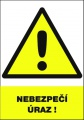 Výstražná tabulka Nebezpečí úrazu! - plastová