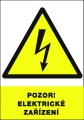 Tabulka - Pozor elektrické zařízení!