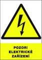Výstražná tabulka Pozor elektrické zařízení! - plastová