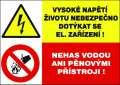 Zákazová tabulka Vysoké napětí - plastová