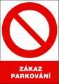 Zákazová tabulka Zákaz parkování - plastová