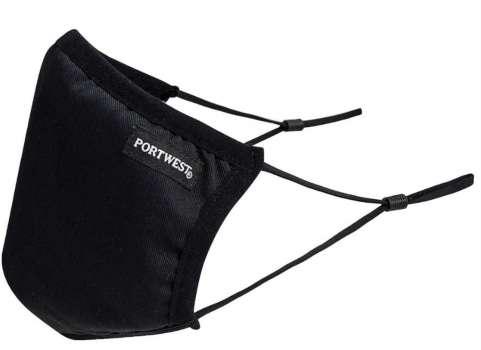 Třívrstvá textilní rouška (PK25) – černá