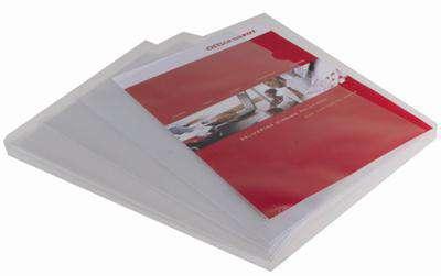 """Obaly na doklady """"L"""" Niceday - A4, 90 mikronů, krupičkové, čiré, 100 ks"""