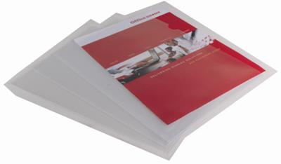 """Obaly na doklady """"L"""" Office Depot - A4, 120 mikronů, krupičkové, transparentní, 25 ks"""