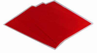 """Obaly na doklady """"L"""" Office Depot - A4, 120 mikronů, krupičkové, červené, 100 ks"""