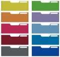 Panely přední barevné pro zásuvky Modulodoc jumbo