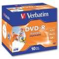 DVD-R Verbatim Printable - potisknutelné, standard box, 10 ks