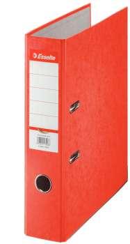 Pákový pořadač Esselte - A4, kartonový, hřbet 7,5 cm, červený