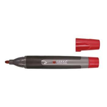 Popisovač permanentní Foray - červený, 3 mm
