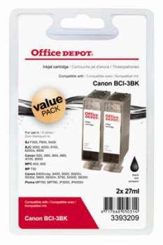 Cartridge Office Depot Canon BCI-3E - černá