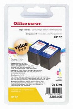 Cartridge Office Depot HP C9503A/57 - tříbarevná