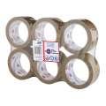 Balicí pásky - hnědé, 50 mm x 100 m, 6 ks