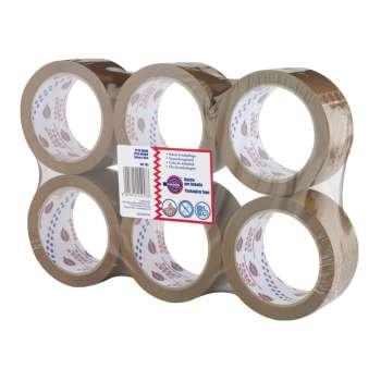 Balicí pásky Office Depot - hnědá, 50 mm x 100 m, 6 ks