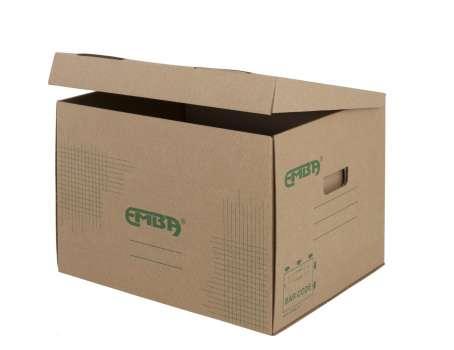 Skupinový box Emba - 42,5 x 33 x 30 cm, hnědý, 5 ks