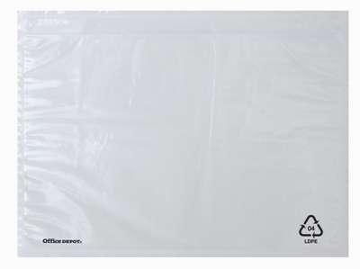 Kapsy na zásilky Office Depot - DL, průhledné, samolepicí, 250 ks