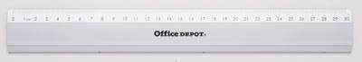 Pravítko Office Depot - hliníkové, 30 cm