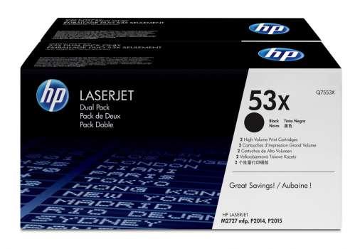 Toner HP Q7553XD/53XD  - černý, dvojbalení