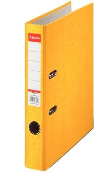 Pákový pořadač Esselte - A4, kartonový, hřbet 5 cm, žlutý