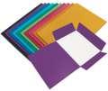Prešpánové desky se třemi chlopněmi HIT Office - A4, fialové , 20 ks