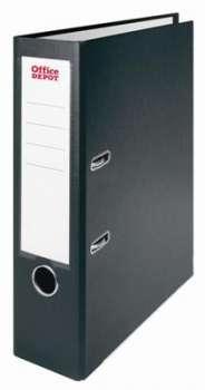 Pákový pořadač Office Depot - A4, s kapsou, kartonový, hřbet 8 cm, černý