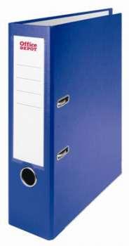 Pákový pořadač Office Depot - A4, s kapsou, kartonový, hřbet 8 cm, modrý