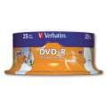 Disky DVD-R Verbatim Printable - potisknutelné, cake box, 25 ks