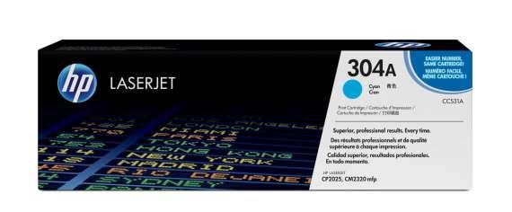 Toner HP CC531A/304A - azurová