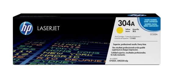 Toner HP CC532A/304A - žlutý