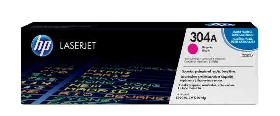 Toner HP CC533A/304A - purpurová