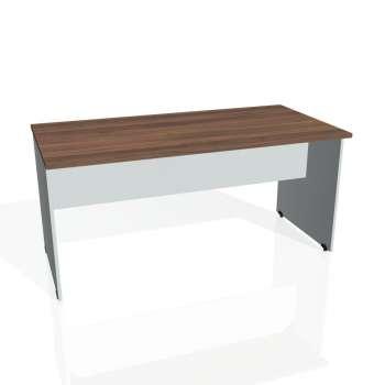 Jednací stůl Hobis GATE GJ 1600, ořech/šedá