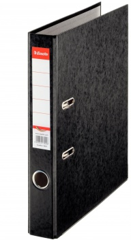 Pákový pořadač Esselte - A4, kartonový, hřbet 5 cm, černý