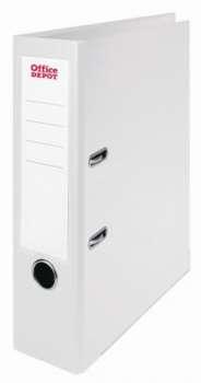 Pákový pořadač Office Depot - A4, s kapsou, kartonový, hřbet 8 cm, bílý