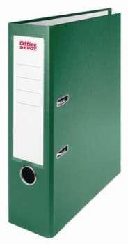 Pákový pořadač Office Depot - A4, kartonový, šíře hřbetu 8 cm, zelený