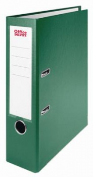 Pákový pořadač Office Depot - A4, s kapsou, kartonový, hřbet 8 cm, zelený