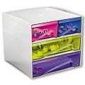 Zásuvkový box CEP My Cube - plastový, 4 zásuvky, barevný
