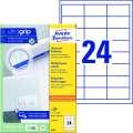 Univerzální etikety Avery Zweckform - bílé, 64,6 x 33,8 mm, 2 400 ks