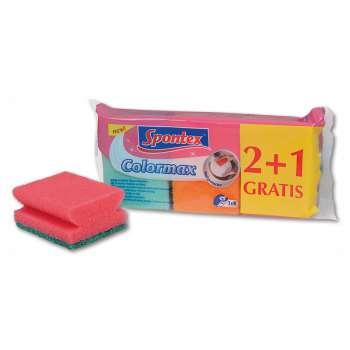 Houbičky na nádobí - Spontex Colormax, 2 + 1 ks