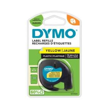 Páska Dymo LetraTag - žlutá, šířka 12 mm, návin 4 m, černé písmo
