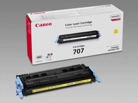 Toner Canon CRG707Y - žlutý