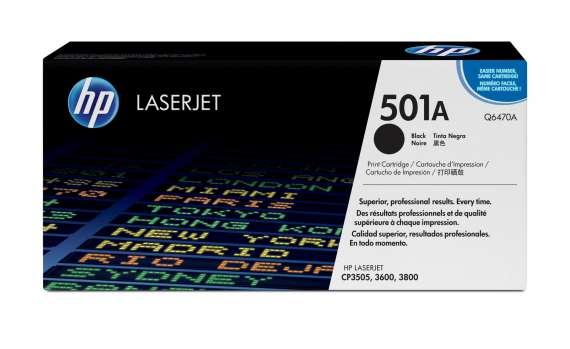 Toner HP Q6470A/501A - černá