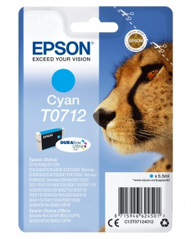 Cartridge Epson T071240 - azurová
