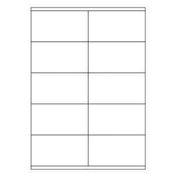 Samolepicí etikety - 105,0 x 57,0 mm