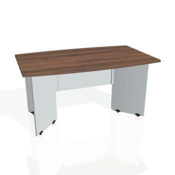 Jednací stůl Hobis GATE GJ 150, ořech/šedá