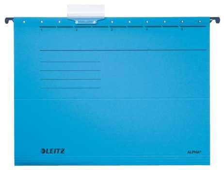 Závěsné desky papírové  LEITZ Alpha modrá , 25 ks