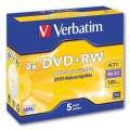 DVD+RW Verbatim - přepisovatelné,  standard box, 5 ks