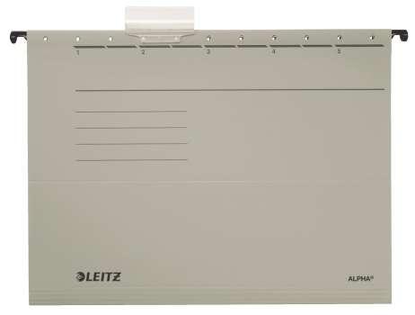 Desky závěsné papírové LEITZ Alpha šedé, 25 ks