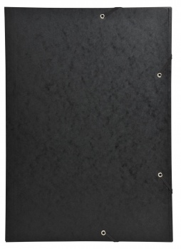 Desky s chlopněmi a gumičkou - A3, černá