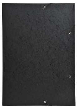 Papírové desky s chlopněmi a gumičkou Exacompta - A3, černé