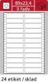 Tabelační etikety S&K Label - dvouřadé, 89 x 23,4 mm, 12 000 ks