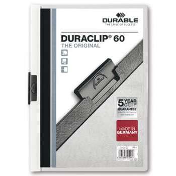 Desky s klipem DURACLIP 60, A4 bílé
